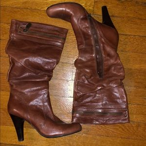 Guess slouch boots. 3/4 zip for easy access.